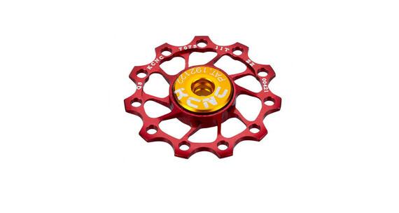 KCNC Jockey Wheel Ultra 12 tanden SS Lager rood